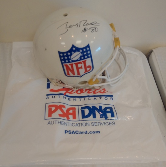 Jerry Rice Autographed Full Size NFL Logo Proline Helmet w/ His Own Hologram COA 49ers HOF Football