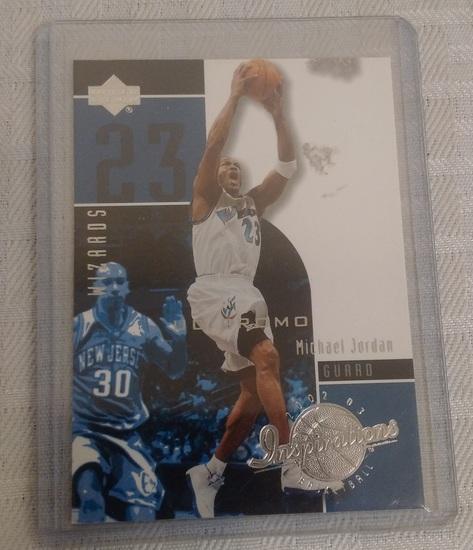 Rare 2002-03 Upper Deck UD Inspirations Michael Jordan NBA Basketball Card Promo Wizards HOF