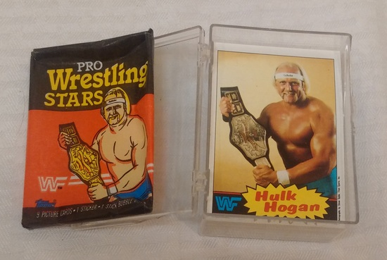 Vintage 1985 Topps WWF Wrestling Complete Card Set w/ Wrapper Hulk Hogan RC Rookie Nice WWE