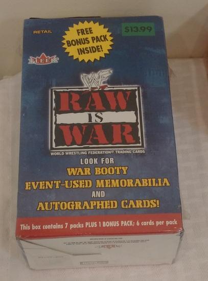 2001 Fleer Raw Is War Sealed Wax Box WWF WWE Wrestling Potential Inserts Austin Rock DX 8 Packs