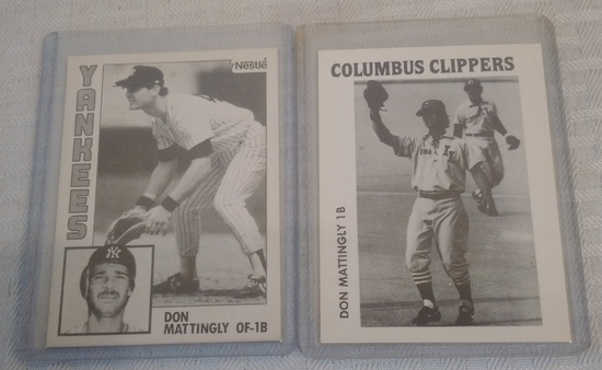 Rare 1984 Vintage Don Mattingly Nestle B/W Test Card Rookie RC Yankees w/ Minor League Clippers