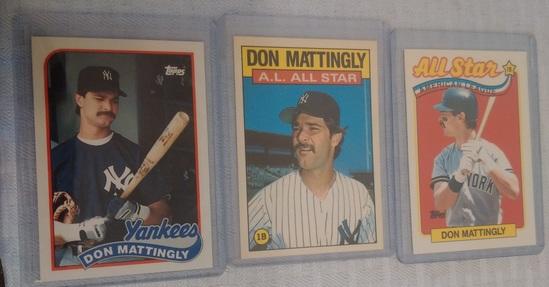 3 Topps Tiffany Don Mattingly Card Lot 1986 1989 Yankees Rare Limited Glossy