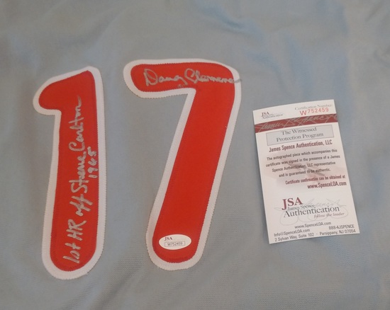 Rare Doug Clemens Philadelphia Phillies MLB Custom Baseball Jersey Carlton Inscriptions JSA COA