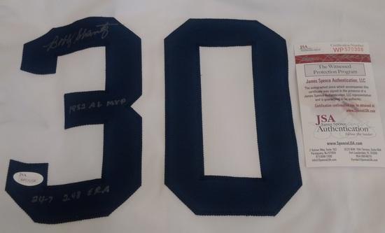 Bobby Shantz Philadelphia Athletics MLB Custom Baseball Jersey 2 Inscriptions JSA COA A's MVP ERA