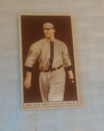 Vintage T207 Tobacco Baseball Card Ed Dixie Walker Recruits Little Cigars Back