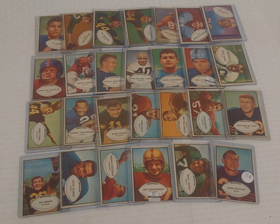 Vintage 1953 Bowman NFL Football Card Lot 27 Different Cards Starter Set 27/96