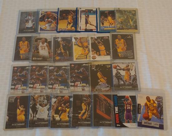 25 Kobe Bryant NBA Basketball Card Lot Lakers