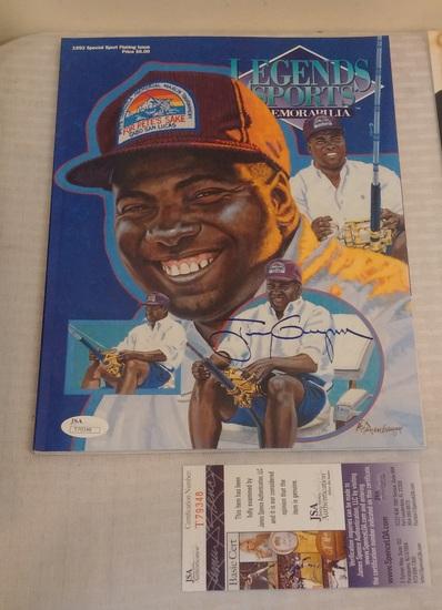Tony Gwynn Autographed Signed Legends Baseball Magazine JSA COA Padres HOF