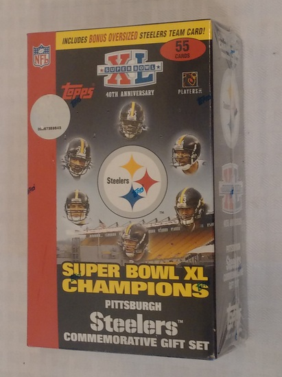 Steelers Super Bowl XL Special Card Set Factory Sealed NFL Topps Champions