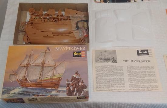 Vintage 1966 Revell Model Kit Mayflower Complete Unused Nice Box