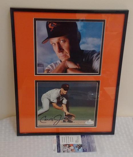 Cal Ripken Jr Autographed Signed Framed Matted Photo Orioles MLB Baseball JSA COA HOF