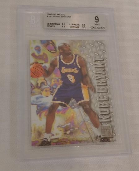 1996-97 Fleer Metal #181 Kobe Bryant NBA Basketball Rookie Card RC Lakers BGS Beckett GRADED 9 MINT