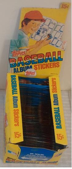 1981 Topps Baseball Sticker Factory Wax Box Unopened Stars HOFers
