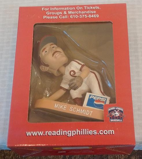 Reading Phillies SGA Bobblehead Nodder Micke Schmidt Figure MIB Minor League Baseball MLB