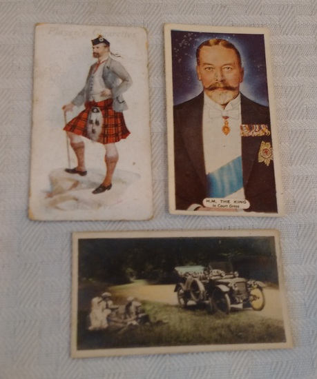 3 Vintage 1920s 1930s Cigarette Card Lot Non Sport Piedmont & More