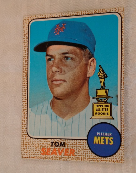 Vintage 1968 Topps Baseball #45 Tom Seaver Card 2nd Year Mets HOF Nice