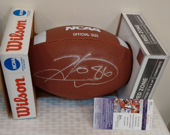 Hines Ward Autographed Signed Football Georgia JSA COA NFL Steelers