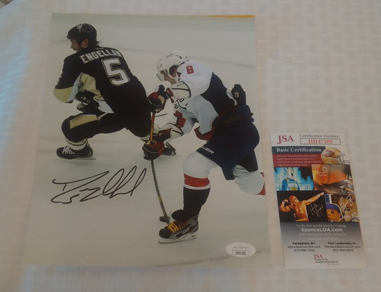 Deryk Engelland Signed 8x10 Photo Penguins NHL Hockey JSA COA