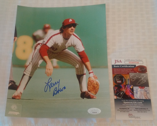 Larry Bowa Autographed Signed 8x10 Photo Baseball Phillies JSA COA