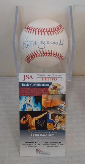 Bill Mazeroski Pirates MLB Baseball Signed Autographed ROMLB Ball JSA COA Case