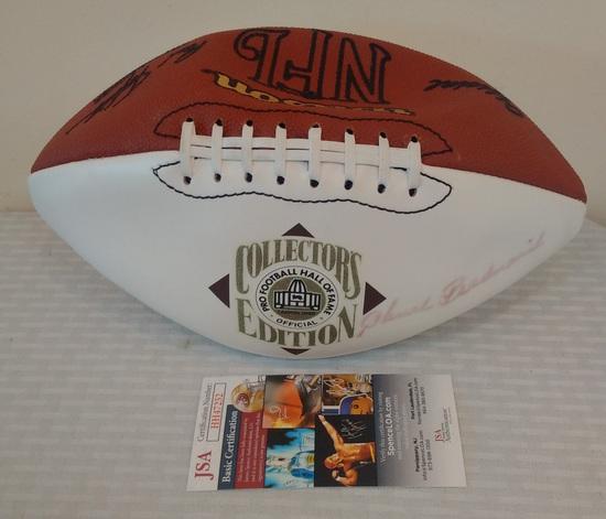 Chuck Bednarik Autographed Signed Hall Of Fame Football Ball JSA COA Eagles HOF Canton Logo