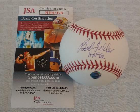 Bob Feller Autographed Signed ROMLB Baseball Indians JSA COA HOF Ball