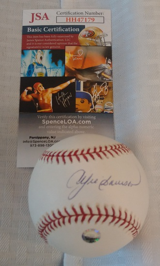 Andre Dawson Autographed Signed 2004 Opening Day Logo Baseball JSA COA Cubs Expos HOF Ball
