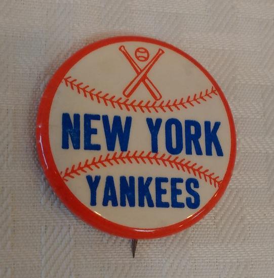 Vintage New York Yankees NY Pin Button MLB Baseball