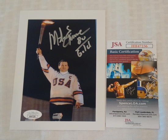 Mike Eruzione Olympic Hockey Signed Autographed 5x7 Photo JSA COA Miracle On Ice NHL