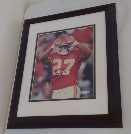 Larry Johnson Signed Autographed 8x10 Photo Framed Matted Chiefs NFL Football Steiner COA Penn State