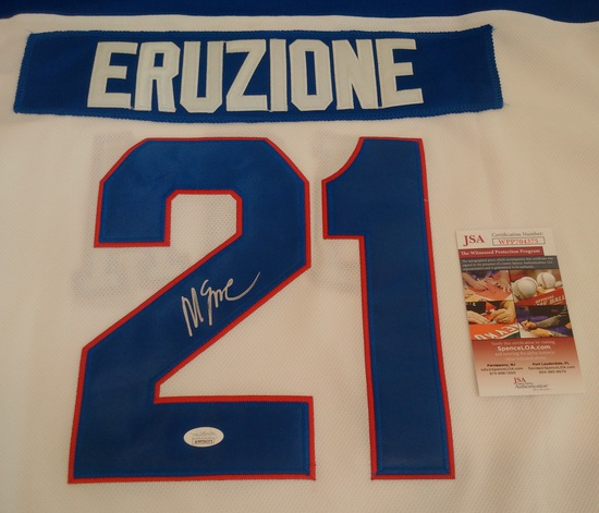 Mike Eruzione Olympic Hockey Custom USA Jersey Signed Autographed JSA COA Miracle On Ice NHL XL