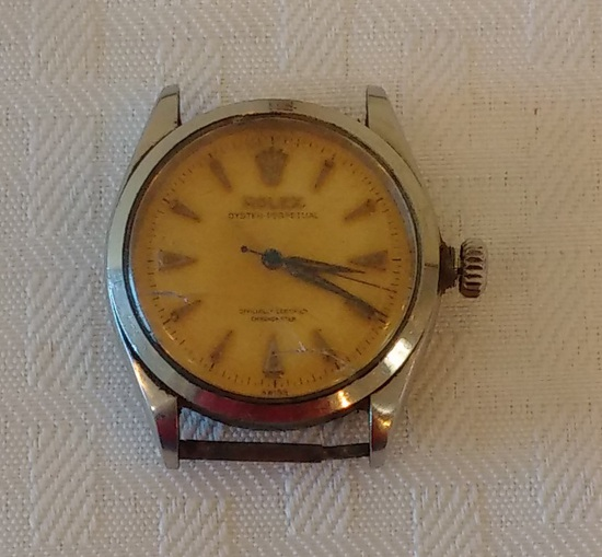 Vintage Rare Rolex Oyster Perpetual Mens Wrist Watch Officially Certified Works Tick Old Estate Find