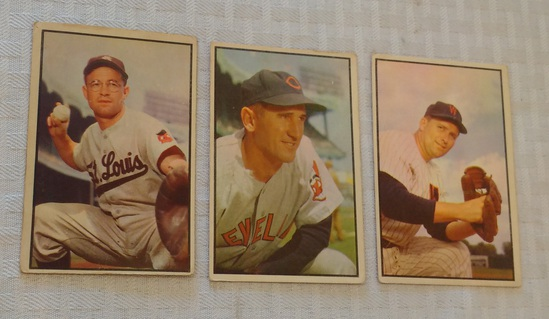 3 Vintage 1953 Bowman Baseball Card Lot Shea Lopez Courtney