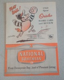 Vintage 1960 Baltimore Orioles Official Scorecard Publication Nice Clean Advertising