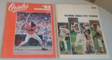 2 Vintage Baltimore Orioles Yearbook Lot 1971 1982 Ripken Rookie Year