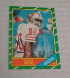 Vintage 1986 Topps NFL Football #161 Rookie Card Jerry Rice RC 49ers HOF Nicely Centered