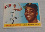 Vintage 1955 Topps Baseball Card#100 Monte Irvin Giants HOF Key Card