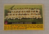 Vintage 1956 Topps Baseball Team Card #85 Cleveland Indians White Back Nice Card Name Centered