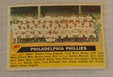 Vintage 1956 Topps Baseball Team Card #72 Philadelphia Phillies White Back Nice Card Name Centered