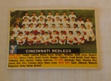 Vintage 1956 Topps Baseball Team Card #90 Cincinnati Redlegs Reds White Back Nice Card Name Centered