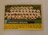 Vintage 1956 Topps Baseball Team Card #90 Cincinnati Redlegs Reds Gray Back Nice Card Name At Left