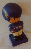 Rare Vintage 1960s Bobblehead Bobble Nodder Minnesota Vikings Damage Japan Purple Square Base