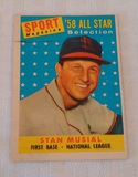 Vintage 1958 Topps Baseball Card #476 Stan Musial All Star Cardinals HOF
