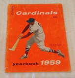 Vintage 1959 St. Louis Cardinals Baseball Yearbook Stan Musial Cover