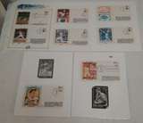 8 Vintage Catchet Envelope Baseball Lot 1982 World Series HOF & More