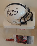 Lenny Moore Penn State Autographed Signed Mini Helmet We Are Inscription JSA COA PSU Paterno Colts