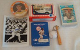 Misc Baseball Collectibles Lot Mattingly Indians Orioles Sealed Kellogg's Set & More