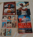 Baseball Lot Stan Musial Book Cards Bob Gibson Lou Brock Photo Cardinals HOF