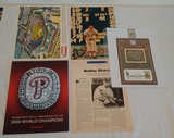 Baseball Lot Phillies 2008 World Series HOF Stamp & More