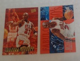 1995-96 Fleer Ultra NBA Basketball Insert Card Pair Lot Double Trouble Fabulous Fifties Bulls HOF